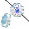 Glass Daisy 9mm Aqua Aurora Borealis Strung Bead